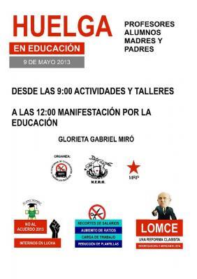9M huelga en educación