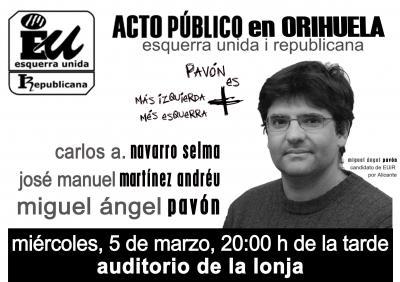 Acto público en Orihuela