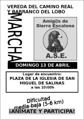Domingo 13 marcha por Sierra Escalona