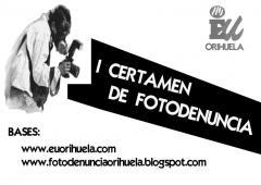 IU Orihuela pone en marcha el primer certamen de foto-denuncia medioambiental