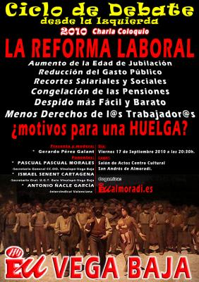 Mesa Redonda sobre la Reforma Laboral. Motivos para la Huelga