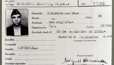 Miguel Hernández, mi maltratado y utilizado paisano.