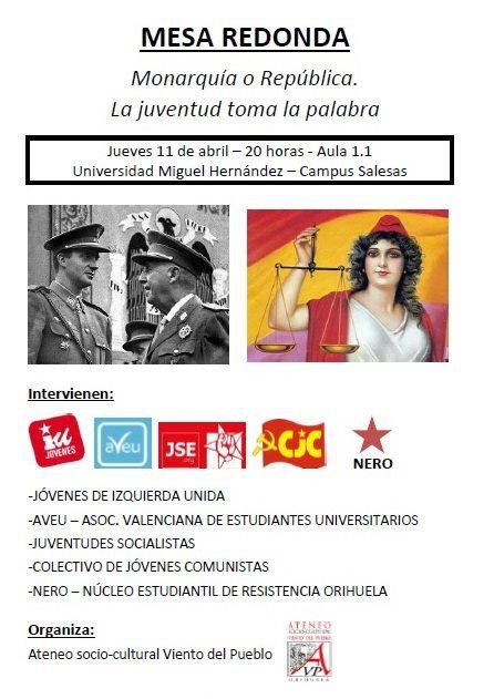 Mesa redonda: 'Monarquía o República'